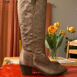 Women's Guess bronze silky western boot